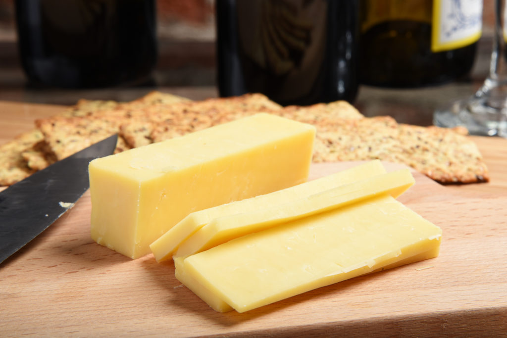 Double Cream Reserve Organic Cheddar cheese