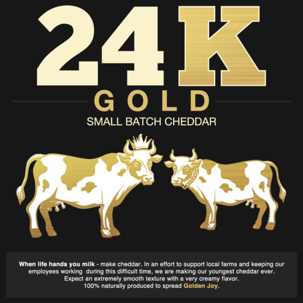 24K Gold Small Batch Cheddar